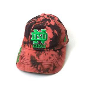 Upcycled Custom Bleached Tie Dye ND Irish Dad Cap